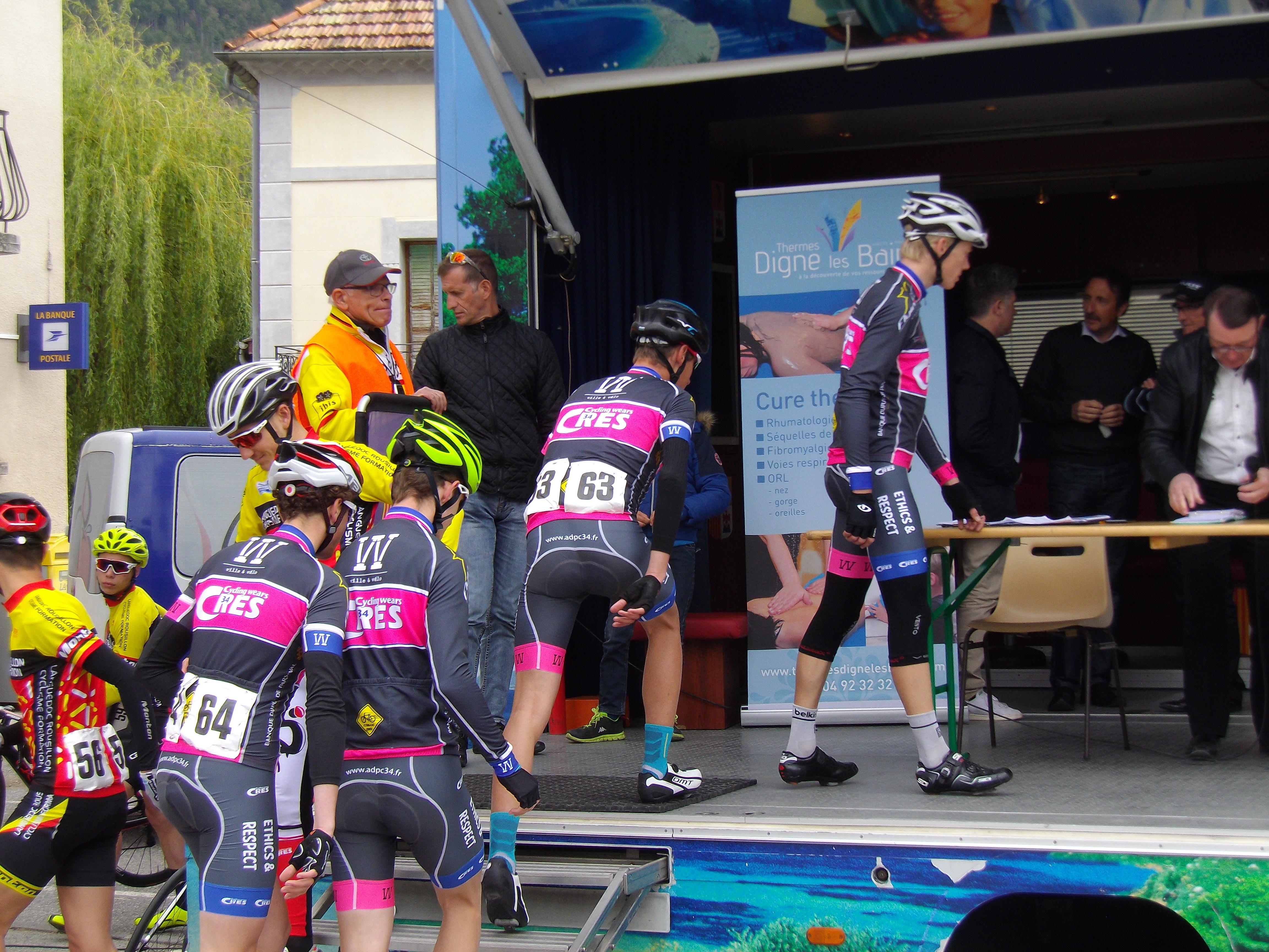 présentation podium 4ème étape Paca