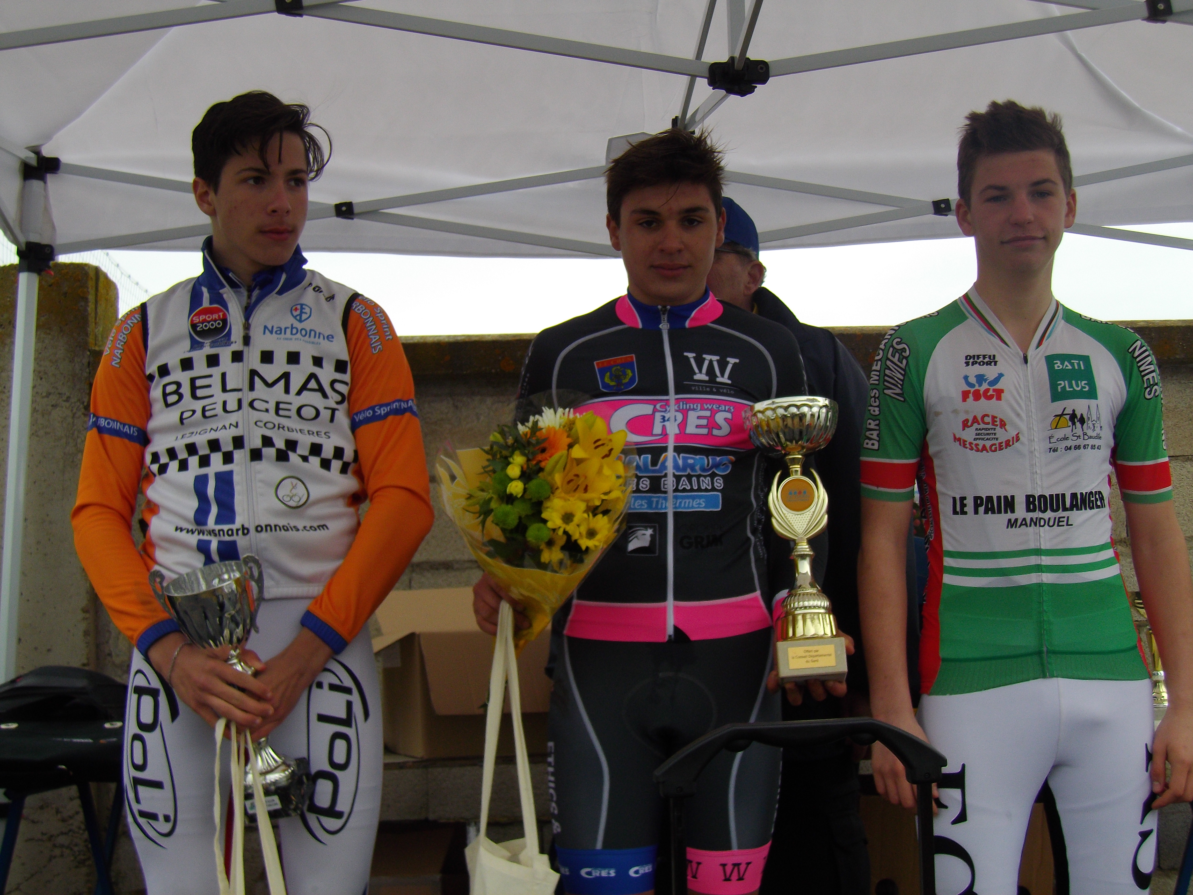 Tom Leboucher sur le podium